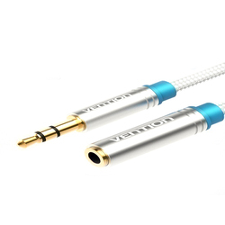 3.5 Mm Male To Female Extension Cable 2 Meter Metal Type