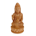 5 Inch Carved Wooden Buddha Statue