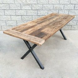 Antique Iron Wood Furniture Table