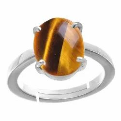 Tiger Eye Men Classic Silver Ring Gemstone