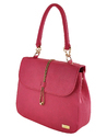 Yellow Pink Synthetic Leather Hand Bag