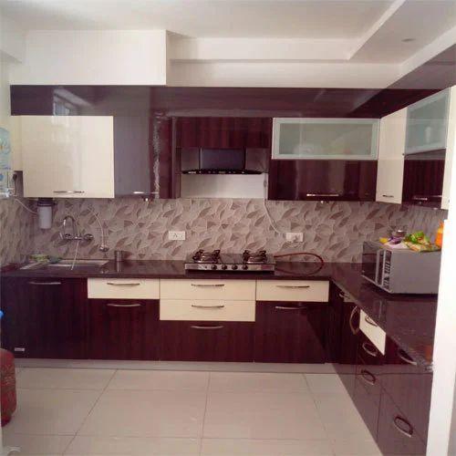 Designer Brown Wooden Kitchen Cabinet