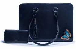 AD-02 Cow NDM Leather Shoulder Laptop Satchel