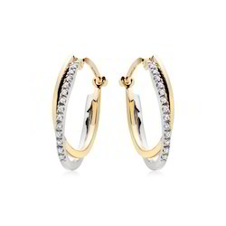 Diamond Gold Hoop Earring