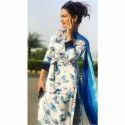 Ladies Printed Silk Unstitched Suit