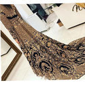 Ladies Trendy Party Wear Embroidered Tail Gown