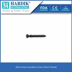 6.5mm Cancellous Screw (32mm Thread)