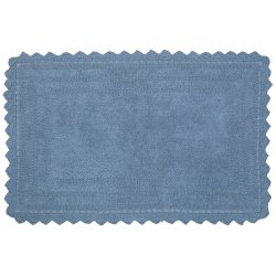 Cotton Shaggy Style Floor Area Bath Mat Rectangular Shape L-34 X W-21 Inch