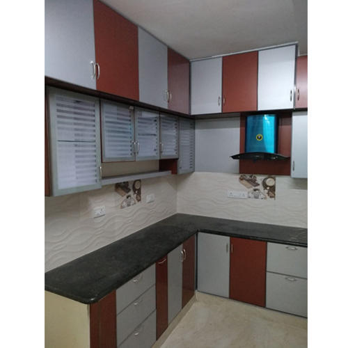 Aluminium Modular Kitchen At Rs 1100 Square Feet: White And Brown Aluminium Kitchen Cabinet, Rs 900 /square