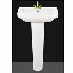 Ceramic Pedestal Wash Basin, For Bathroom, Model Name/Number: Set