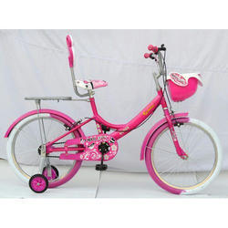 Manual Rockstar Girls Pink Basket Bicycle
