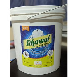 White Dhawal Detergent Powder, Packaging Type: Bucket, Packet, Packaging Size: 1 Kg, 10 Kg