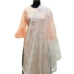 White Embroidered Dupatta