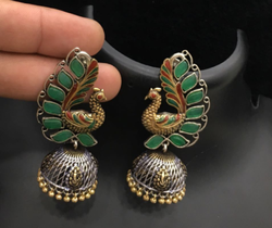 Oxidized Jhumka Earring