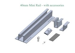 Aluminum Rail 40mm, 60mm, 70mm