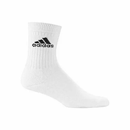 tienda de comestibles micrófono encuesta  Adidas Mens Sports Socks - Adidas White Socks Wholesale Distributor from  Delhi