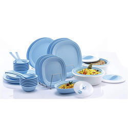 Varmora 36pcs Microwave Safe Dinner Set, Sky Blue