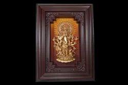 Brown & Gold Photo Frame Sri Shubha Drishti Ganapathy SG 100