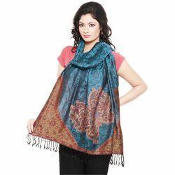 Floral Design Kashmiri Silk Stole 177