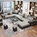 Gray Non Conjugated Poly Fill Sofa Set, Warranty: 1 Year, Size: Contemporary