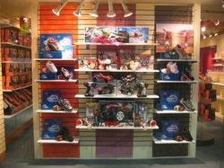Shoes Display on Slatwall Boards