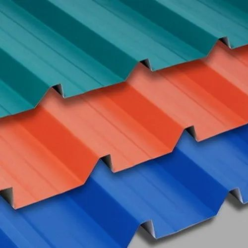 Color Coated Fiberglass Corrugated Roofing Sheets