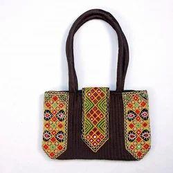 Flap Closure Handicraft Shoulder Bag
