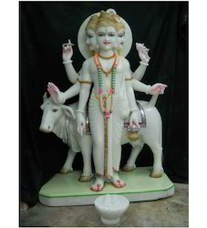 White Marble God Statue
