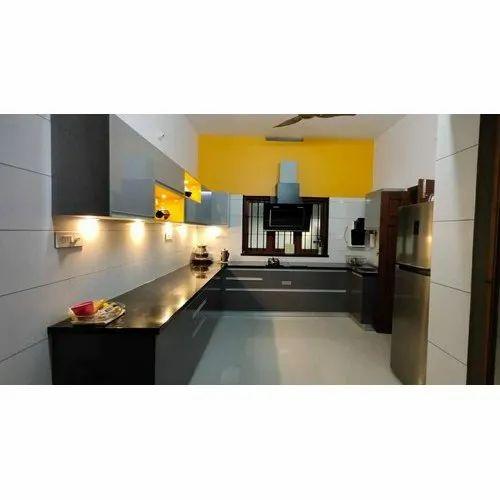 12x12 Feet L Shape Modular Kitchen Best Shape Modular Kitchen L Shape Kitchen एल श प म ड य लर क चन एल आक र क म ड य लर रस ई Optima Modular Solution Indore Id 22488496873