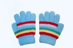 Sky Blue Woolen Gloves
