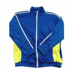 Blue, Yellow Full Sleeve Mens Pullover Jacket