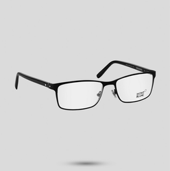 Mont Blanc Rectangular Matt Black Eyeglass