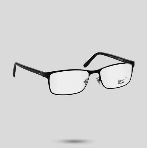 36a2a24ea3 Mont Blanc Rectangular Matt Black Eyeglass - Mital Jewels