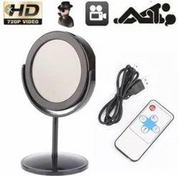 Black Staunch Mirror Spy Hidden Camera With Remote