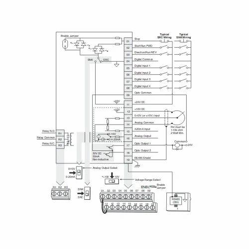 Allen Bradley 6p0 380v Power Flex 40p Ac Drive