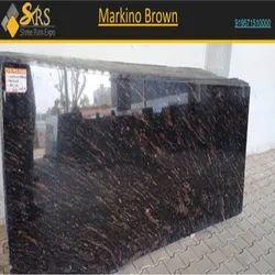 Polished Finish Markino Brown Granite, Slab, Thickness: 15-20 mm