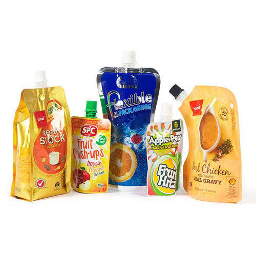 BEVERAGES PACKAGING - Plain Spout Pouch Manufacturer from Rajkot