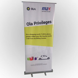 White Base Roll Up Standee, For For Advertising