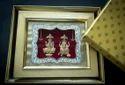 Laxmi Ganesh Gold Leaf Frame 24 Kt