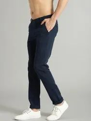 Casual Wear Mens Blue Cotton Pant, Size: 28 to 36