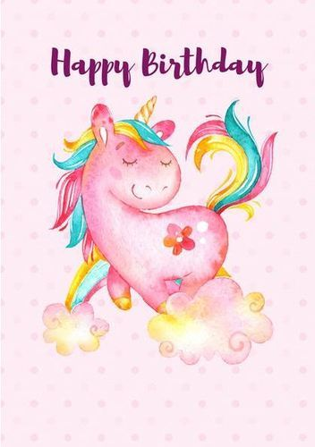 unicorn happy birthday poster at rs 450 no printed poster id