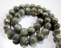Natural Silver Coated Labradorite Gemstone Beads