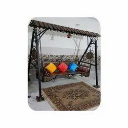 Modern Wrought Iron Garden Swing/Jhoola, 2 Seater, Size: 6 Feet