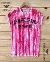 Half Sleeve Cotton Emporio Armani Round Neck Men T-shirt