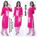 Fashionable Katha Work Rayon Printed Kurtis