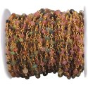 Multi Tourmaline Wire Wrapped Gemstone Beaded Chain