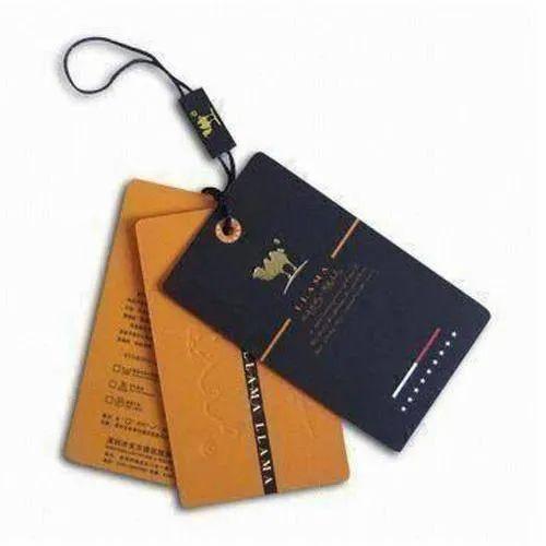 Rectangular Garment Hard Paper Hang Tag