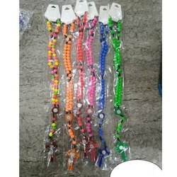 Plastic Beads Rosary Necklace, Packet
