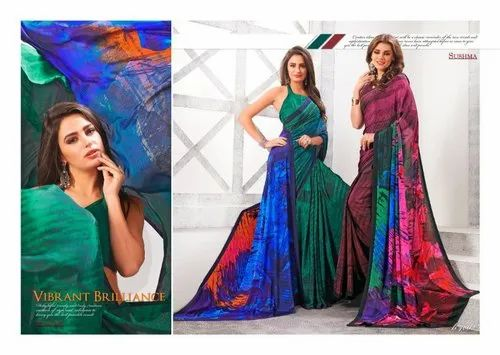 016bbeec14 Sushma By Vogue Party Wear Crepe Digital Printed Saree, Rs 600 ...