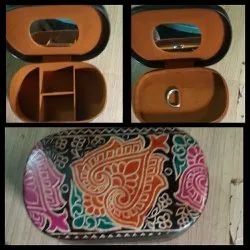 BI Shantiniketan Leather Leather Jwellery box